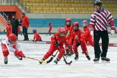 На стадионе «Енисей» протестировали технический лед
