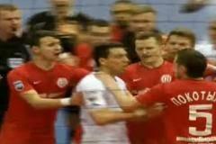 В чемпионате России по мини-футболу произошла массовая потасовка