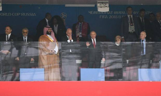 Лучшие кадры матча Россия – Саудовская Аравия