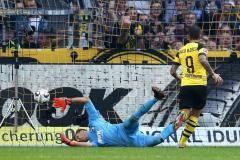 Хет-трик Алькасера принес победу «Боруссии» Д в матче с «Аугсбургом»