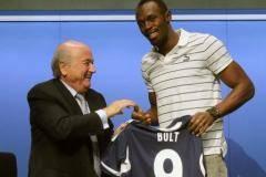 Болт посетил штаб-квартиру ФИФА в Цюрихе