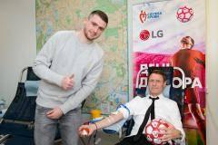 Юбилейный 95-й день донора на заводе LG при участии Олега Кононова и Александра Селихова