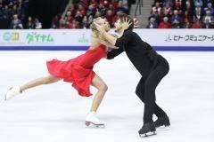 Степанова и Букин лидируют после ритмического танца на этапе Гран-при в Москве