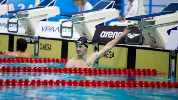 Григорий Тарасевич одержал три победы на международных соревнованиях по плаванию