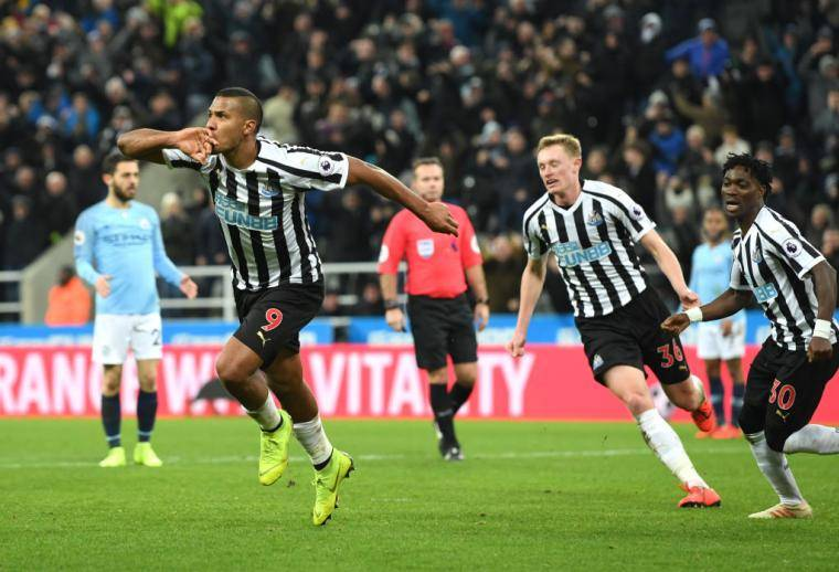 «Манчестер Сити» проиграл «Ньюкаслу» в 24-м туре чемпионата Англии
