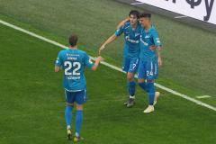 Голы Азмуна и Ригони принесли победу «Зениту» в матче с «Уфой»
