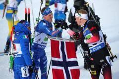 Сборная Норвегии выиграла эстафету на чемпионате мира, россияне – на 6-й позиции