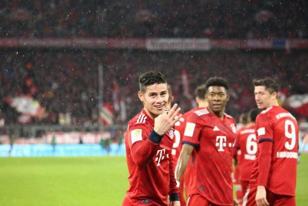 «Бавария» разгромила «Майнц» и вернулась в лидеры бундеслиги, у Родригеса хет-трик