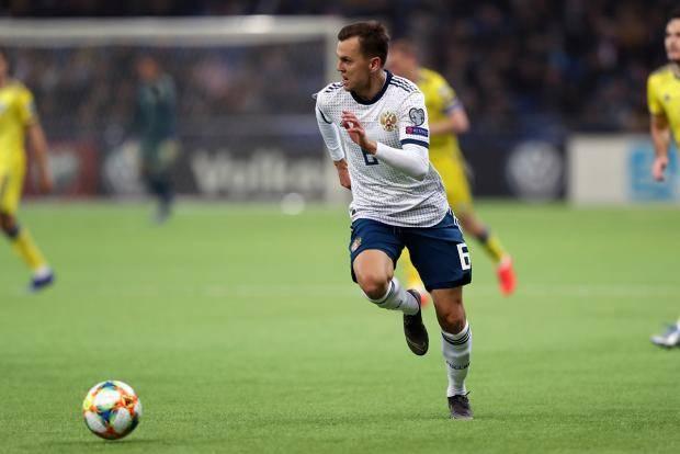 Черышев оформил дубль в ворота Казахстана, забив девятый гол за сборную