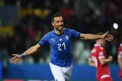 Италия разгромила Лихтенштейн в квалификации Евро-2020, у Квальяреллы дубль