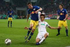 «РБ Лейпциг» в дополнительное время обыграл «Аугсбург» и вышел в полуфинал Кубка Германии