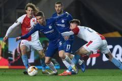 Гол Алонсо принес «Челси» победу над «Славией» в матче Лиги Европы