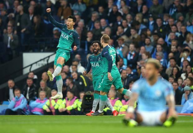 «Тоттенхэм» благодаря дублю Сона прошел «Манчестер Сити» в Лиге чемпионов