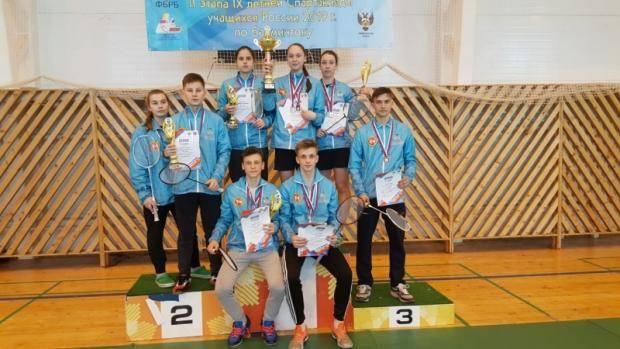 Бадминтонисты РТ – победители второго этапа Спартакиады учащихся России