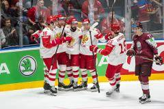 Сборная России одержала волевую победу над командой Латвии на чемпионате мира
