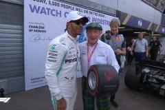 Хэмилтон выиграл квалификацию Гран-при Монако, Квят – восьмой