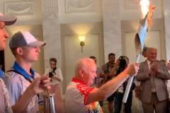 Открытое пламя полыхало в Большом театре Минска
