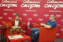 Алексей Ягудин - в пресс-центре «Советского спорта»