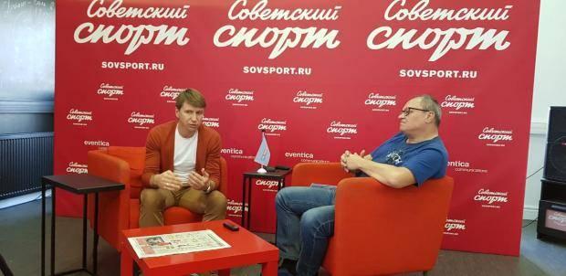 Алексей Ягудин – в пресс-центре «Советского спорта»