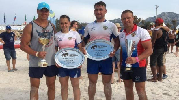 Татарстанцы в составе сборной России выиграли этап европейской серии по пляжному регби