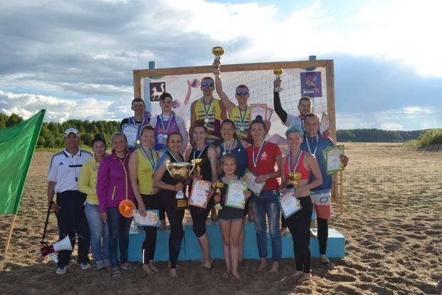 Ухтинцы и печорцы одержали победу на чемпионате Республики Коми по пляжному волейболу