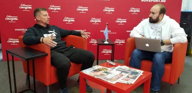 Александр Ширко – в пресс-центре «Советского спорта»