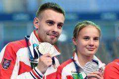Беляева и Минибаев завоевали серебро чемпионата мира по синхронным прыжкам с вышки