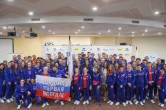 Удачи в Баку! Юных российских спортсменов торжественно проводили на Олимпийский фестиваль