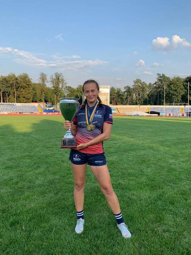 Игрок женского регби-клуба «Кубань» стала обладателем золотой медали