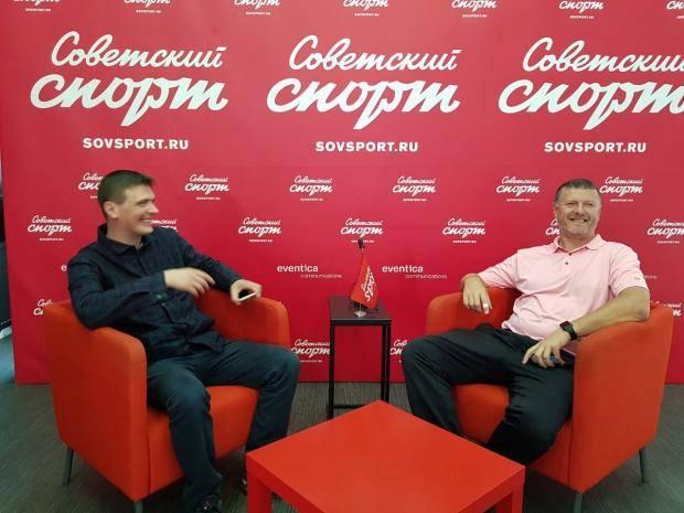 Евгений Кафельников – в пресс-центре «Советского спорта»