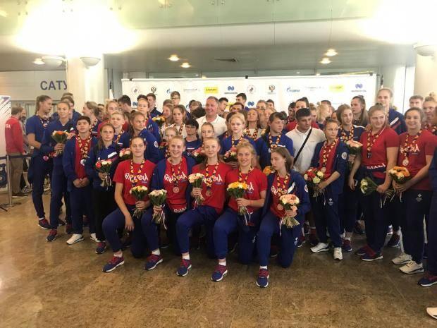 Юные олимпийцы вернулись домой