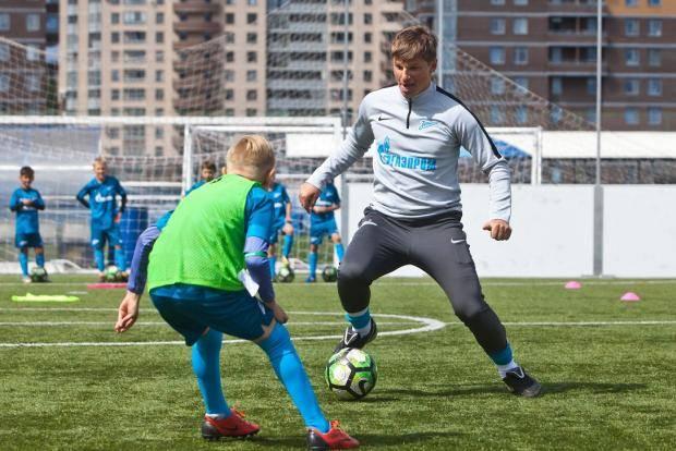 Андрей Аршавин провел мастер-класс для участников «Большого фестиваля футбола»