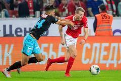 Голы Понсе и Шюррле принесли «Спартаку» победу над «Туном» в матче Лиги Европы