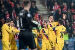 «Барселона» победила «Славию» благодаря автоголу