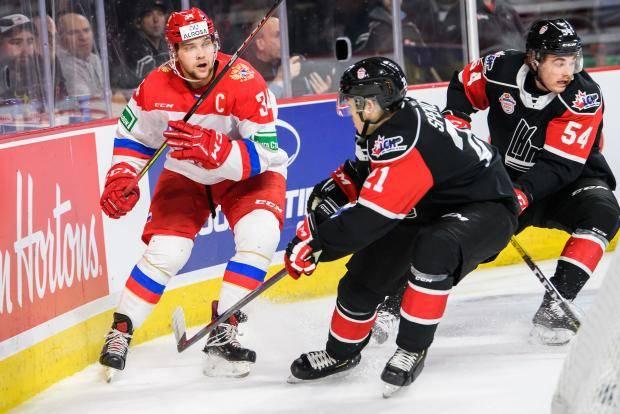 Пропала атака. Молодежная сборная России проиграла канадцам из лиги Онтарио