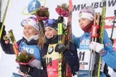 Медаль – бронза, а Миронова – золото. Россиянка – третья в спринте в Хохфильцене