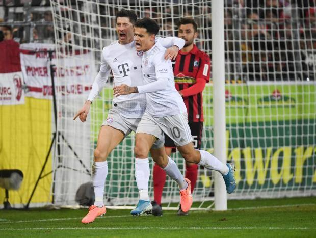«Бавария» обыграла «Фрайбург», «Шальке» и «Вольфсбург» разошлись миром