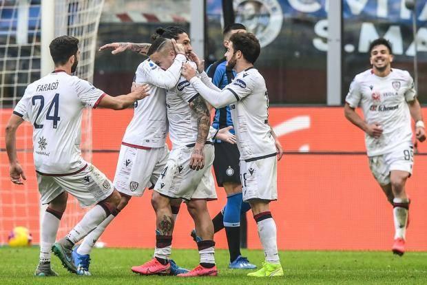 «Интер» в концовке встречи упустил победу над «Кальяри»