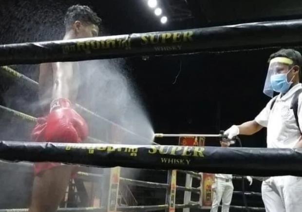 Дезинфекция боксеров и ринг-гёрлз в масках. Коронавирусный сюр в Никарагуа