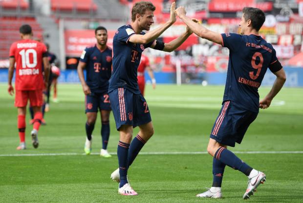 У Левандовски – 30 голов, у Мюллера – 20 передач. «Бавария» уничтожила «Байер» (видео)