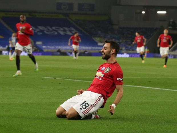 Дубль Фернандеша принес «Манчестер Юнайтед» крупную победу над «Брайтоном»