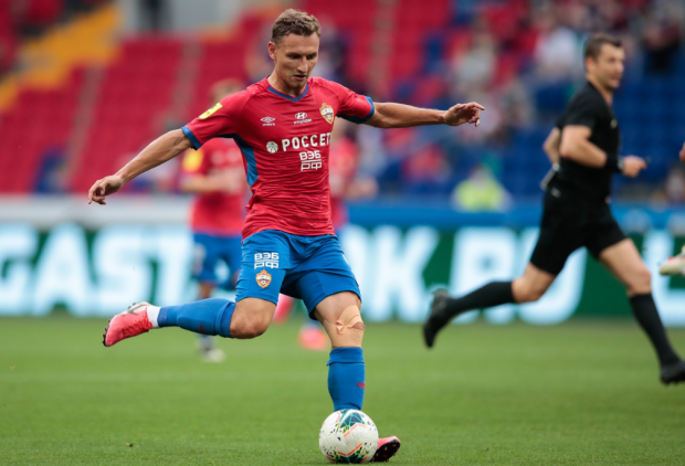Чалов забил в третьем туре подряд, но ЦСКА упустил победу над Слуцким (видео)