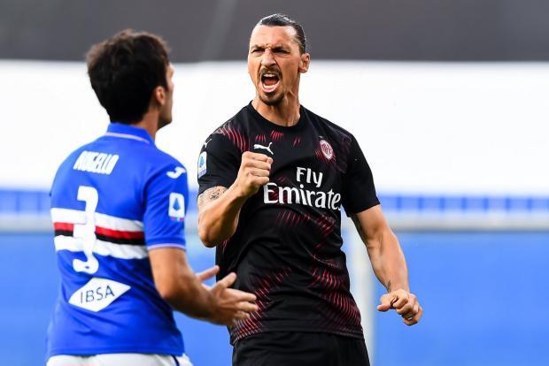 Дубль Ибрагимовича помог «Милану» разгромить в гостях «Сампдорию»