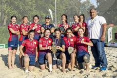 Женская сборная Дагестана одержала безоговорочную победу в Кубке России по пляжному регби