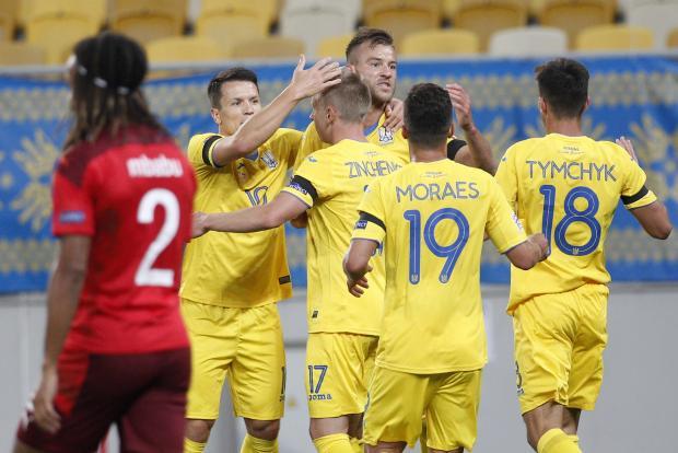 Украина на своем поле обыграла Швейцарию в Лиге наций (видео)
