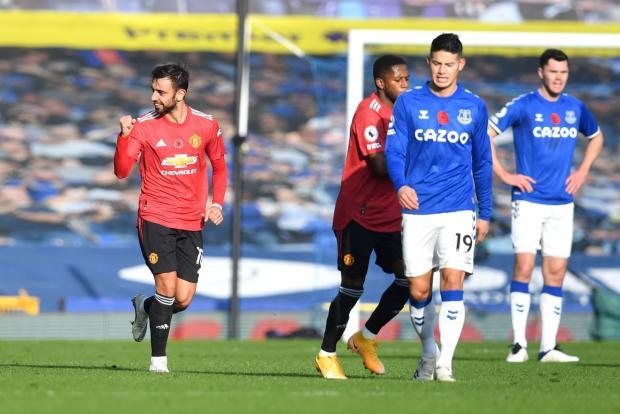 «Манчестер Юнайтед» одержал волевую победу над «Эвертоном» благодаря дублю Фернандеша