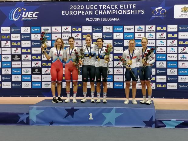 Гонщики Marathon-Tula принесли России золото и серебро чемпионата Европы по велоспорту на треке