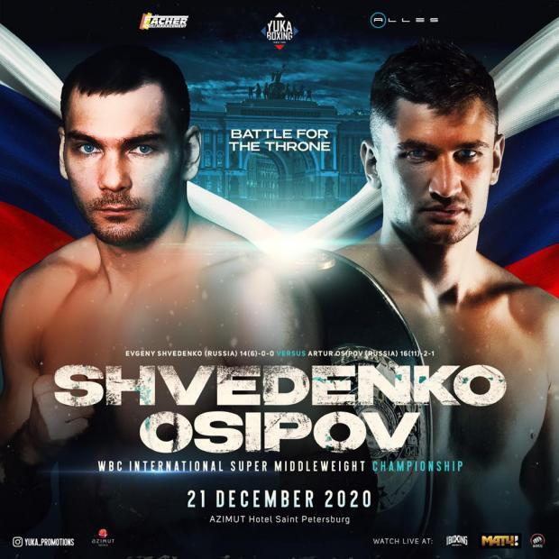 Шведенко и Осипов разыграют титул WBC International в Санкт-Петербурге