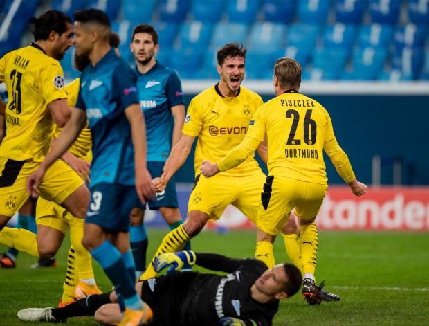 Дортмундская «Боруссия» в гостях одержала волевую победу над «Зенитом»