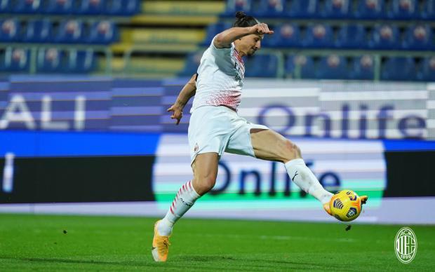 Дубль Ибрагимовича принес «Милану» победу над «Кальяри»